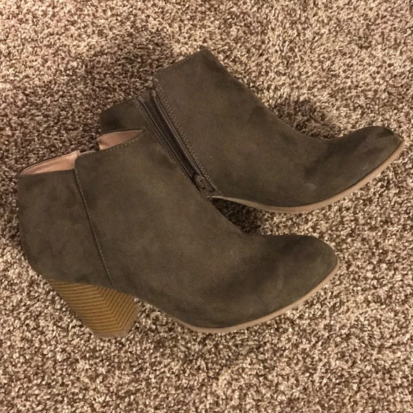 old navy suede ankle boots